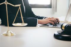 Lawyer or judge work in the office. royalty free stock photo