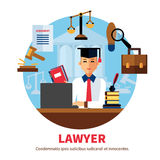 Lawyer Jurist Legal Expert Illustration Stock Photo