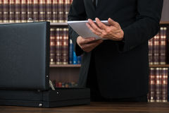 Lawyer Keeping Documents In Briefcase In Office Royalty Free Stock Photos