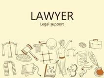 Lawyer. Legal support banner vector illustration Stock Image