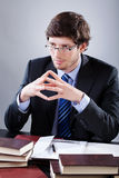 Lawyer listening to his client Stock Photography