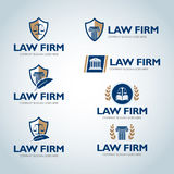 Lawyer logo design templates. Law office logo set. The judge, Law firm logo templates, lawyer set of vintage labels collection. royalty free illustration