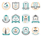 Lawyer Logo Set Stock Images