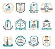Lawyer Logo Set Stock Images