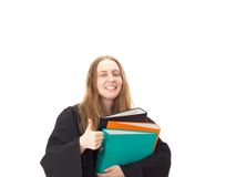 Lawyer with a lot of work Stock Photography