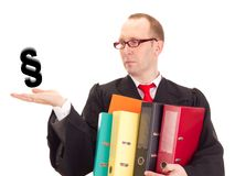 Lawyer with a lot of work Royalty Free Stock Photo