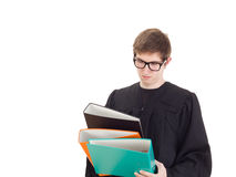 Lawyer with a lot of work Royalty Free Stock Images