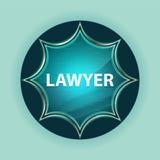 Lawyer magical glassy sunburst blue button sky blue background stock illustration