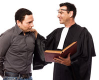 Lawyer man and his client Stock Images