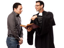 Lawyer man and his client Stock Photo