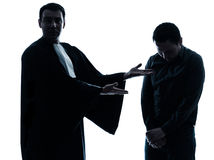 Lawyer man pleading Stock Images
