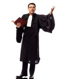Lawyer man pleading Royalty Free Stock Photo