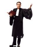 Lawyer man pleading Royalty Free Stock Photo