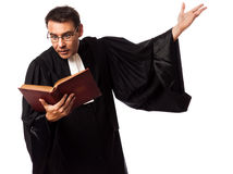 Lawyer man pleading Stock Photography