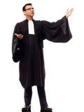 Lawyer man pleading Stock Image