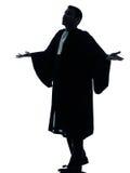 Lawyer man pleading silhouette Royalty Free Stock Photos