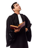 Lawyer man thinking portrait Stock Image