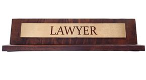 Lawyer name plate Stock Image