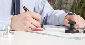 Lawyer, notary stock image