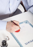 Lawyer, notary Stock Photography