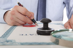 Lawyer, notary Royalty Free Stock Image