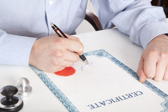 Lawyer, notary royalty free stock photos