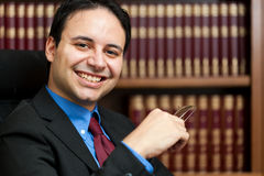 Lawyer portrait Stock Image