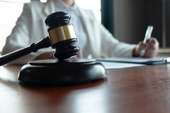 The lawyer provides advice, advice, legal proposals. Examination of legal documents.  stock images