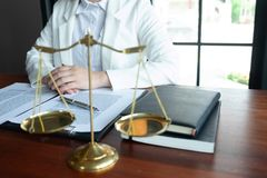 The lawyer provides advice, advice, legal proposals. Examination of legal documents.  royalty free stock photos