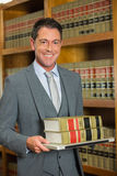 Lawyer reading book in the law library Royalty Free Stock Image