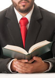 Lawyer reading book of laws Stock Image