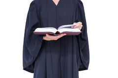 A lawyer reading law code Royalty Free Stock Photos