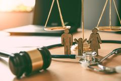 Lawyer Scales Justice - Law Concepts on Human Rights.  royalty free stock photography
