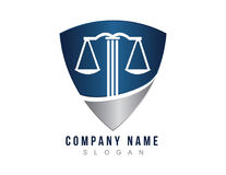 Lawyer shield logo Stock Photos