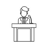 Lawyer speaking in court Royalty Free Stock Images