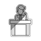 Lawyer speaking in court Stock Photography