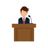 Lawyer speaking in court Stock Photo