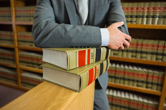 Lawyer standing in the law library Royalty Free Stock Images