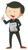Lawyer. In suit holding a law book Stock Image