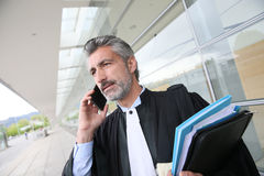 Lawyer talking on smartphone Royalty Free Stock Photo