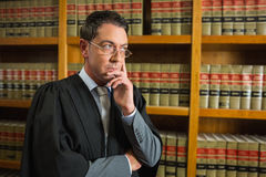 Lawyer thinking in the law library Stock Image