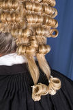 Lawyer wig detail Royalty Free Stock Image