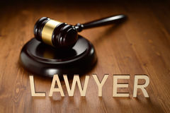 Lawyer wooden letters Royalty Free Stock Photos