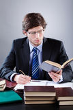 Lawyer working in his office Stock Image