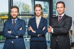 Lawyers with arms crossed Stock Photos