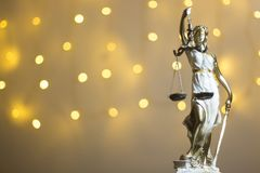 Lawyers justice legal office statue. Lawyers legal office law statue representing blind justice courts figure with scales and sword stock images