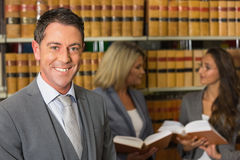 Lawyers in the law library Royalty Free Stock Images
