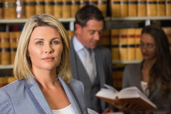 Lawyers in the law library Royalty Free Stock Photography