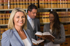 Lawyers in the law library Stock Photography