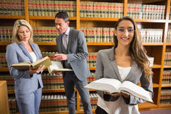Lawyers in the law library Royalty Free Stock Photo